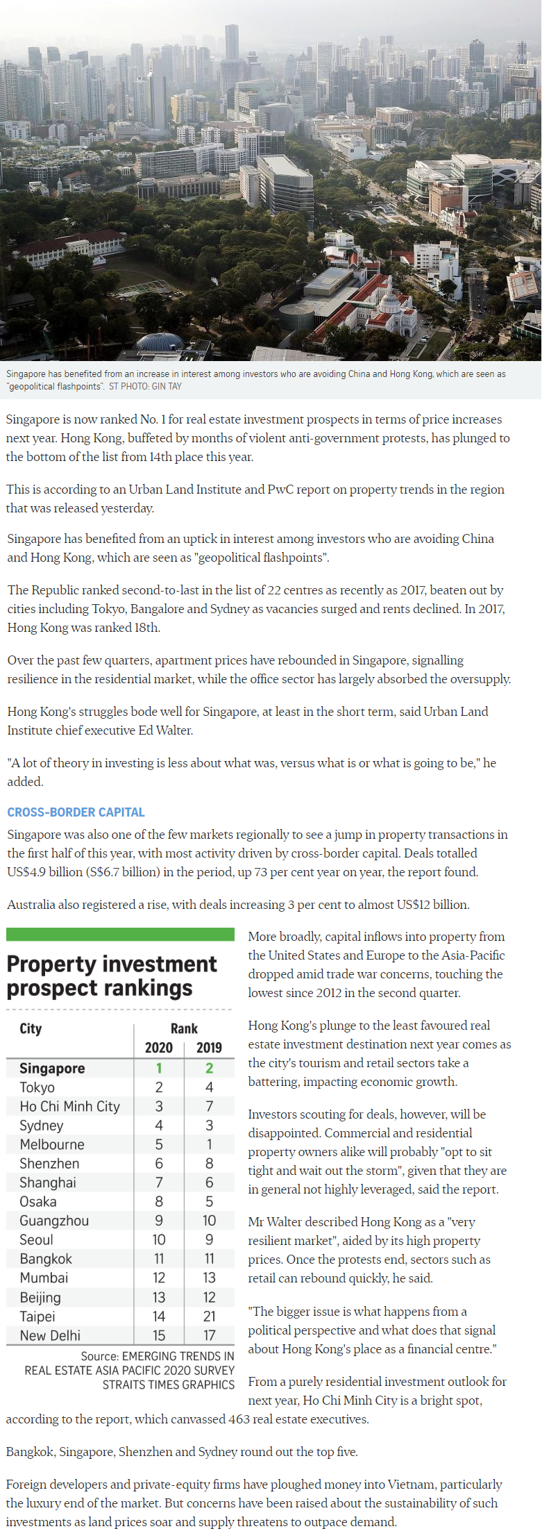 The Watergardens - Singapore Tops Region For Property Investment Prospects