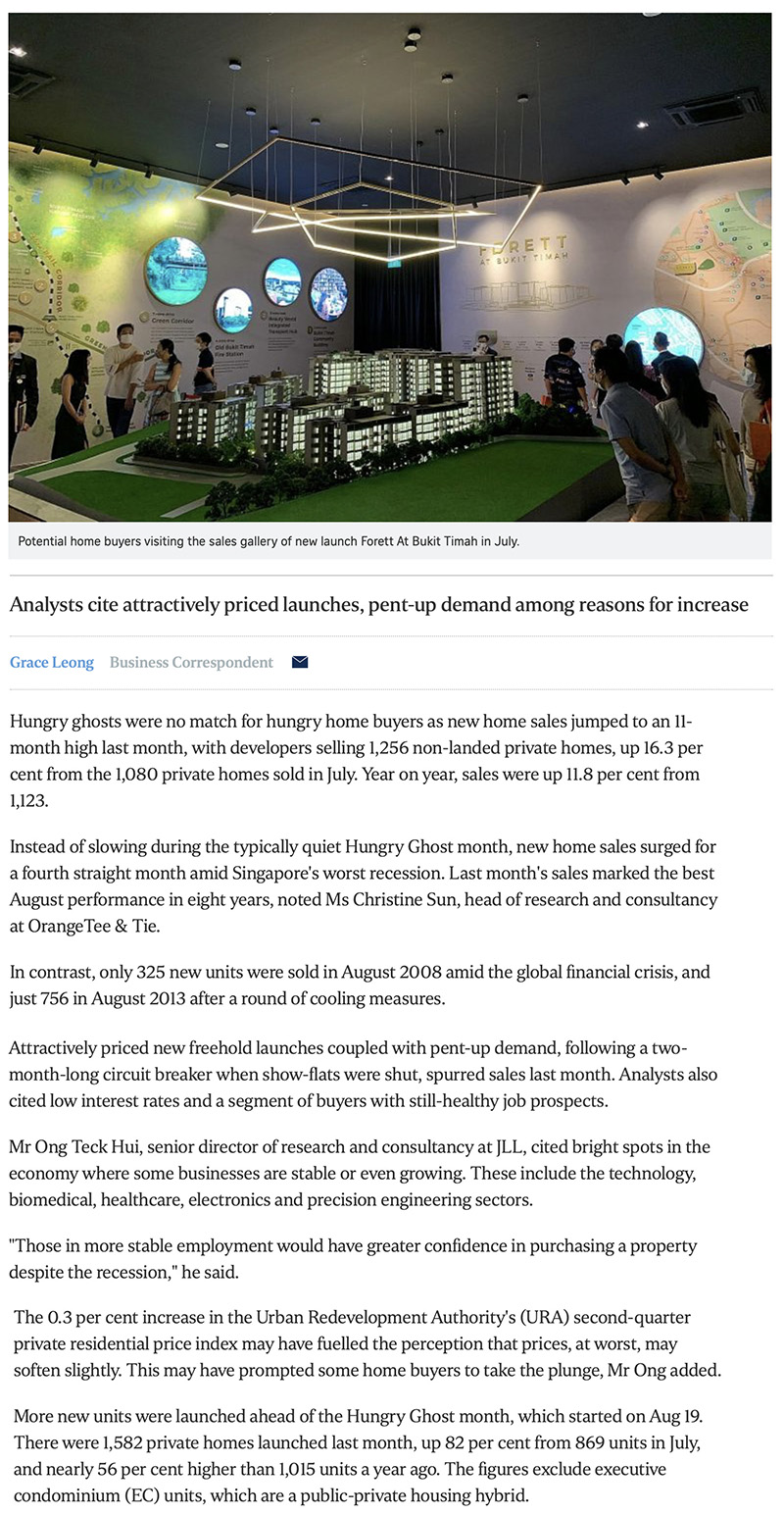 The Watergardens - New home sales surge to 11-month high in August 1