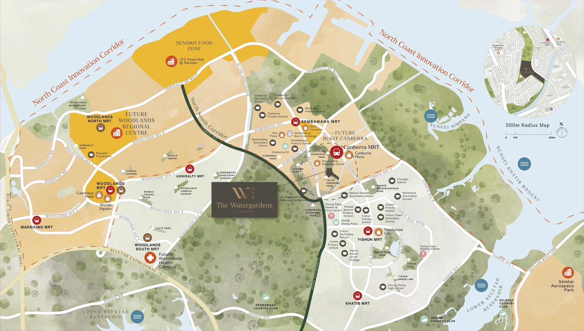 The Watergardens Location Map
